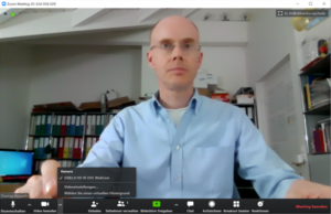 Video conference: activate Zoom virtual background