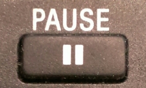 The pause is an important rhetorical device.