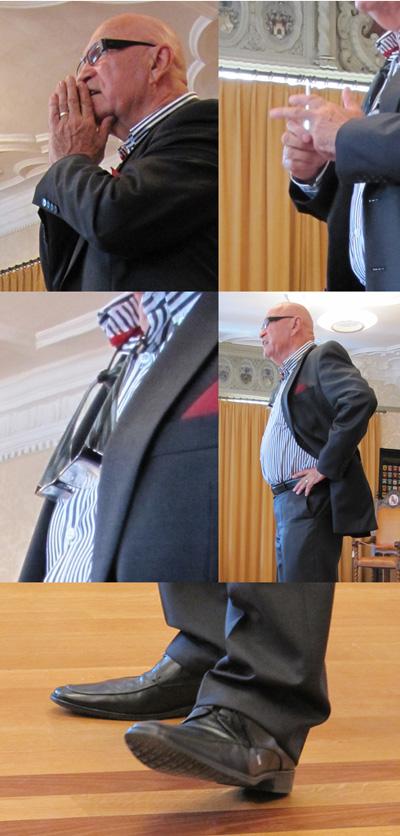 Otto Ineichen: Details der Körpersprache