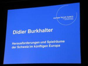 Didier Burkhalter: Vortrag am europa forum luzern