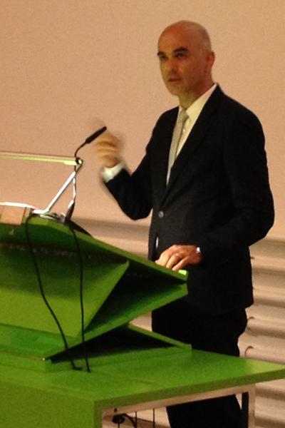 SIAF Bundesrat Alain Berset mahnt mit dem Finger