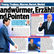 2018.01 Blick WEF Trump Trudeau Berset Merkel