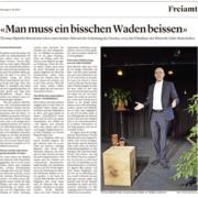 "Aargauer Zeitung: Thomas Skipwith sagt: ""Man muss Waden beissen."""