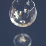 Das Glas ist leer.