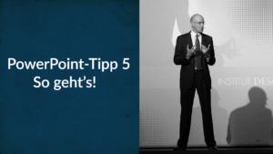 PowerPoint und das Zentrum der Aufmerksamkeit