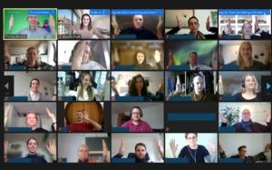 Hintergrund von Online-Meetings